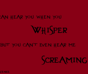 evanescence, screaming, and whisper image