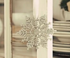snowflake, christmas, and white image