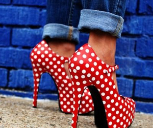 high heels, pumps, and red image