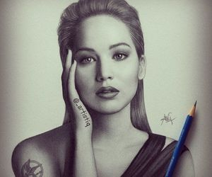 drawing, Jennifer Lawrence, and hunger games image