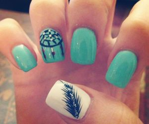 blue, nail art, and cool image