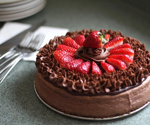 cake, delicious, and love chocolate image