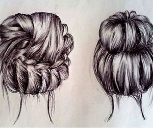 draw, hair, and hair style image