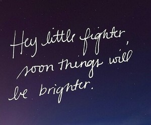 quote, fighter, and life image