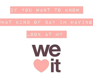 quote, we heart it, and day image