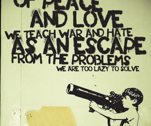 war, peace, and quote image