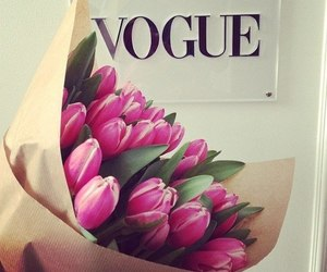 flowers, vogue, and pink image