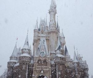 castle, disney, and winter image