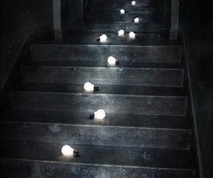 art, light, and stairs image