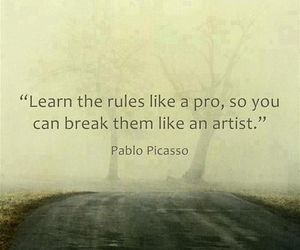 rules, artist, and Pablo Picasso image