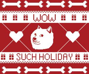 bones, christmas, and doge image
