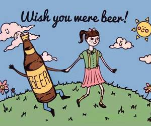 beer, funny, and wish image