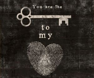 love, heart, and key image