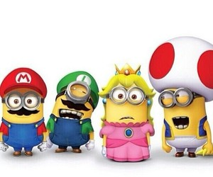 lovely, minion, and super mario minions image