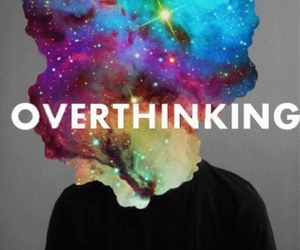 overthinking, galaxy, and gif image