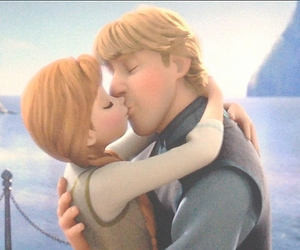 anna, frozen, and kiss image