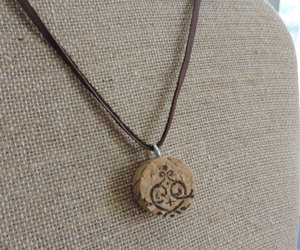 cork, necklace, and etsy image