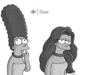 curly, dove, and hair image