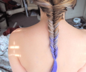 braid, love, and dip dye image