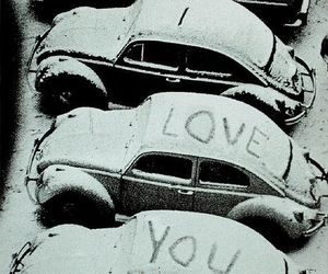love, car, and snow image
