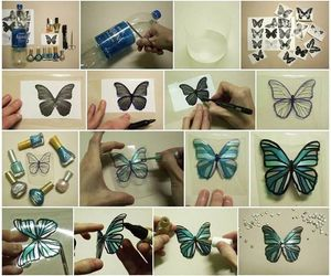 bottle, butterfly, and cool image