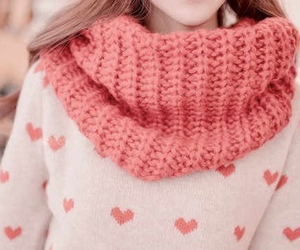 fashion, pink, and scarf image