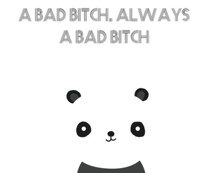 bad, bitch, and panda image