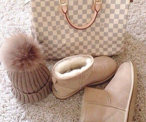 clothes, LV, and uggs image