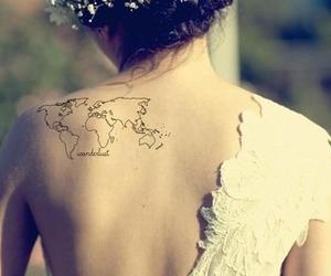 tattoo, world, and travel image