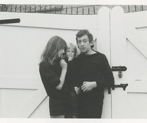 jane birkin, serge gainsbourg, and family image