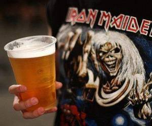 iron maiden and beer image