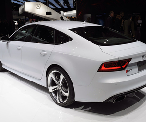 audi, white, and rs7 image