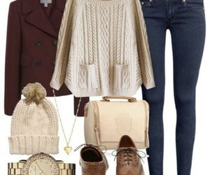 cloth, fall winter, and girls image