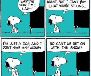 funny, snoopy, and watching tv image