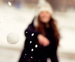 snow, winter, and snowball image