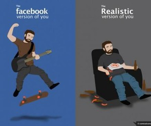 facebook and realistic image