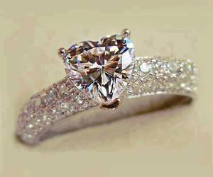 ring, diamond, and heart image