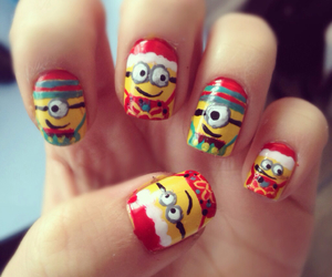 christmas, minions, and nails image