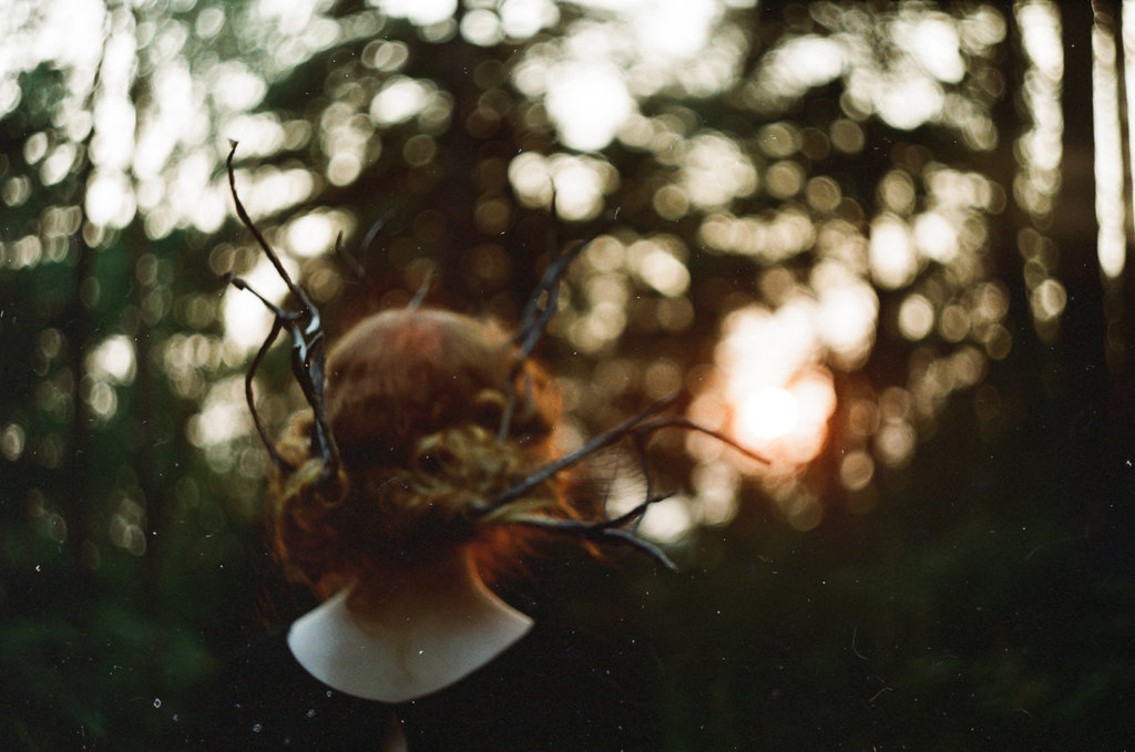 antlers, girl, and nature image