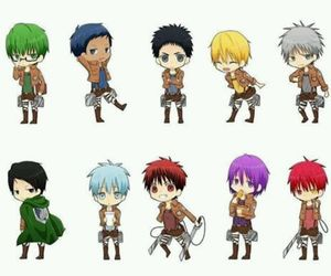 anime, chibi, and snk image