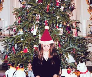 lana del rey, christmas, and christmas tree image