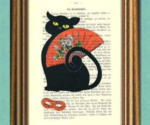 Art Nouveau, black cat, and carnival image