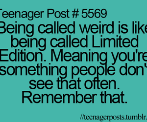 teenager post, weird, and limited edition image