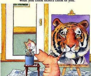 cat, quotes, and tiger image