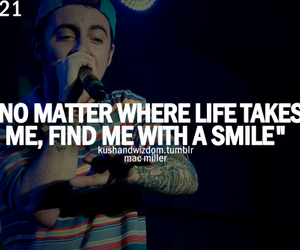 quote, mac miller, and smile image