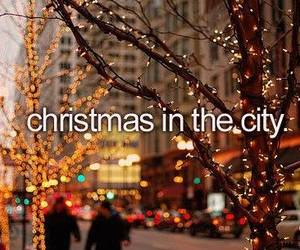 christmas, city, and light image
