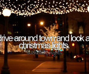christmas, lights, and before i die image
