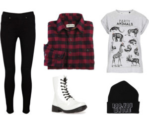 beanie, black, and doc martens image