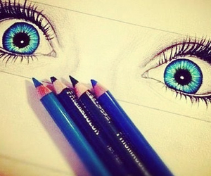 blue, eyes, and colourful image