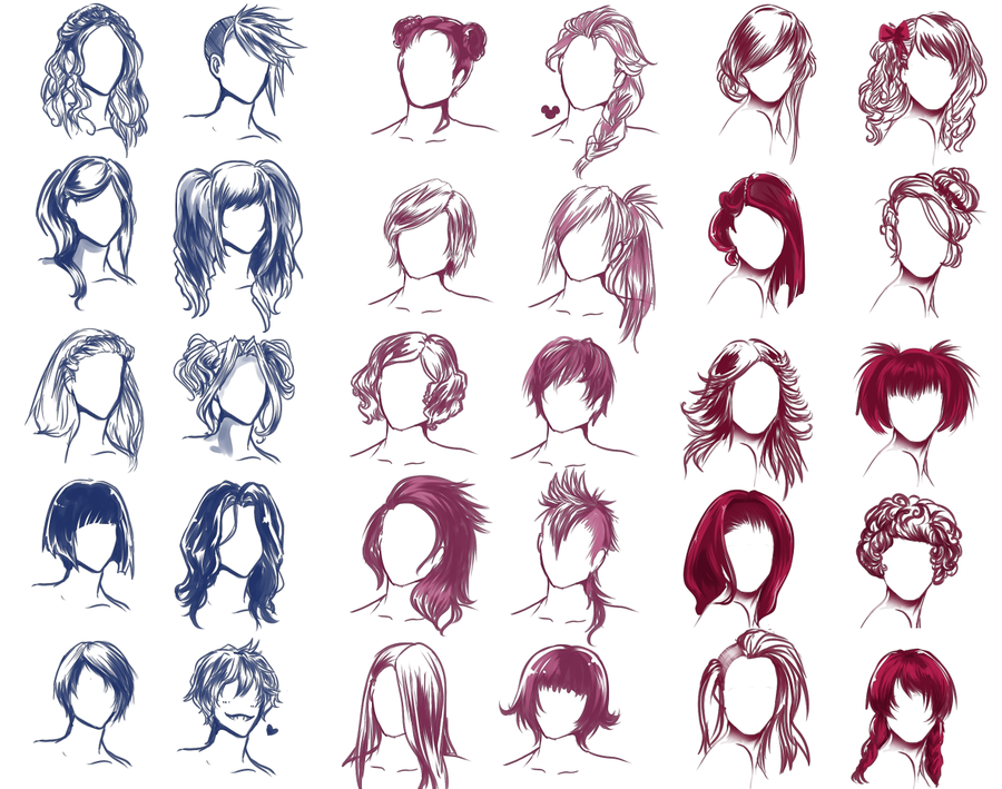 I REALLY WANTED TO DRAW SOME HAIR STYLES By Solstice On DeviantART - Hairstyle boy drawing